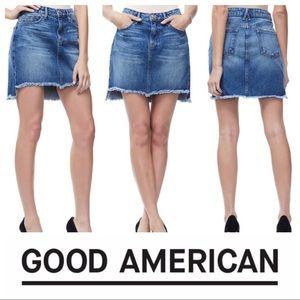Like New Good American Step Hem Mini Skirt SZ 6/28